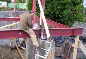 Steel Beam Installation
