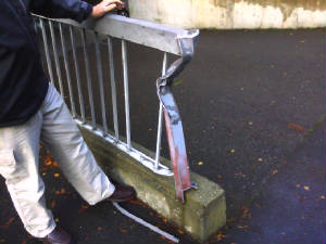 Damaged Railing Before Repair